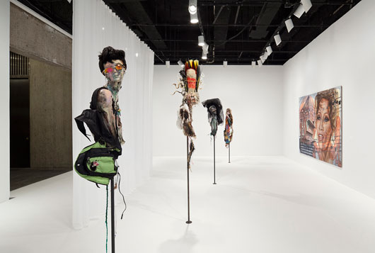 Experience Robert Irwin's Scrim veil—Black rectangle—Natural light, Whitney Museum of American Art,